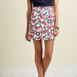 NWT Size 2 Crab Knot and Lobster Print MargoSkirt